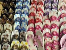 Testes padrões das sandálias Fotos de Stock Royalty Free