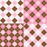 Testes padrões de Argyle Fotos de Stock