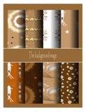 Testes padrões de Brown Fotos de Stock