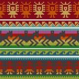 Testes padrões de confecção de malhas andinos tradicionais Fotografia de Stock