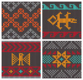 Testes padrões de confecção de malhas andinos tradicionais Imagens de Stock Royalty Free