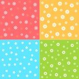Testes padrões de flor Imagens de Stock