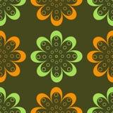 Testes padrões de flor Ilustração Stock