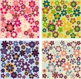 Testes padrões de flor simples ilustração do vetor