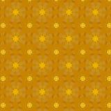 24 testes padrões de flores dourados de K Foto de Stock Royalty Free