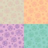 Testes padrões de flores estilizados Foto de Stock