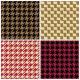 Testes padrões de Houndstooth do pixel ilustração stock