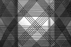 Testes padrões de matéria têxtil em preto e branco Fotos de Stock Royalty Free