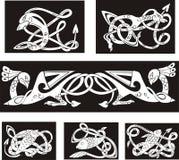 Testes padrões de nó celtas animalistas ilustração do vetor