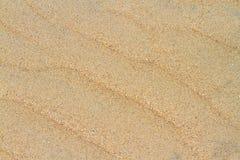 Testes padrões de onda na areia Imagens de Stock