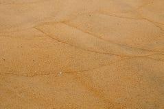 Testes padrões de onda na praia arenosa molhada foto de stock royalty free
