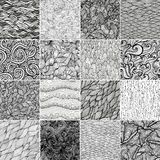 Testes padrões de onda preto e branco ilustração do vetor