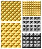 Testes padrões de relevo sem emenda. Fotografia de Stock