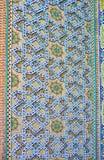 Testes padrões de Rich Islamic da mesquita segura de Azakhane, Kerman, Irã imagens de stock royalty free