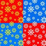 Testes padrões de Snowlakes Imagens de Stock Royalty Free