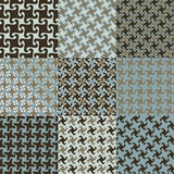 Testes padrões de Swirly no azul e no Brown Imagens de Stock Royalty Free