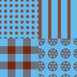 Testes padrões de turquesa de Brown Ilustração Royalty Free