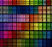 Testes padrões de vidro da cor da telha foto de stock