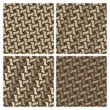 Testes padrões de Weave de cesta Fotos de Stock