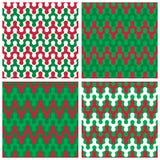 Testes padrões de ziguezague do feriado Imagens de Stock