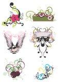 Testes padrões decorativos ilustração do vetor