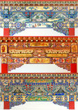 Testes padrões decorativos arquitectónicos Fotografia de Stock Royalty Free