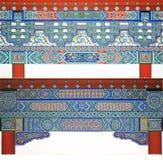 Testes padrões decorativos arquitectónicos Fotos de Stock Royalty Free