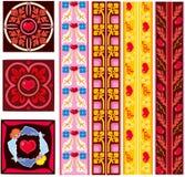 Testes padrões decorativos do dia do Valentim de Saint Foto de Stock Royalty Free