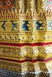 Testes padrões decorativos em Wat Phra Kaew, Emerald Buddha Temple Imagem de Stock Royalty Free