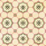Testes padrões decorativos velhos do fundo da telha do arenito Imagem de Stock