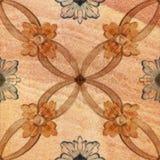 Testes padrões decorativos velhos do fundo da telha do arenito Foto de Stock