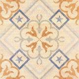 Testes padrões decorativos velhos do fundo da telha do arenito no parque Imagem de Stock Royalty Free