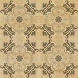Testes padrões decorativos velhos do fundo da telha do arenito no parque Fotografia de Stock