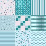 Testes padrões diferentes chiques do vetor do projeto 8 A textura pode ser usada imprimindo no registro da tela e do papel ou da  Fotografia de Stock