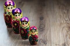 Testes padrões diferentes de Matryoshka Imagem de Stock