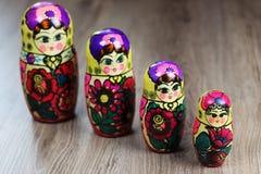 Testes padrões diferentes de Matryoshka Imagem de Stock Royalty Free