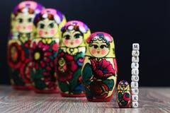 Testes padrões diferentes de Matryoshka Imagens de Stock Royalty Free