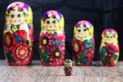 Testes padrões diferentes de Matryoshka Fotografia de Stock