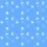 Testes padrões do ícone do bebê Imagem de Stock