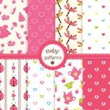 Testes padrões do bebê Fotografia de Stock