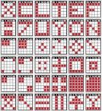 Testes padrões do Bingo Fotografia de Stock
