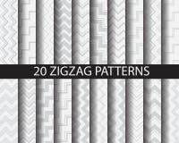20 testes padrões do chaveron Imagens de Stock