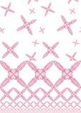 Testes padrões do coração da flor da cor-de-rosa de bebê fotografia de stock royalty free