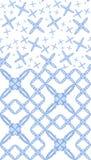 Testes padrões do coração da flor do azul de bebê imagem de stock royalty free