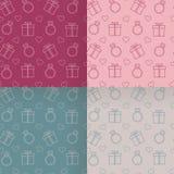Testes padrões do dia do ` s do Valentim ajustados Imagens de Stock Royalty Free