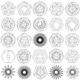 Testes padrões do feriado das estrelas dos flocos de neve e das flores para presentes Foto de Stock Royalty Free