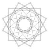 Testes padrões do feriado das estrelas dos flocos de neve e das flores para presentes Fotografia de Stock