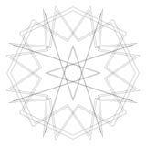 Testes padrões do feriado das estrelas dos flocos de neve e das flores para presentes Foto de Stock
