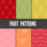 Testes padrões do fruto fotos de stock royalty free