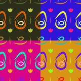 Testes padrões do fundo com pratos de peixes Imagem de Stock Royalty Free